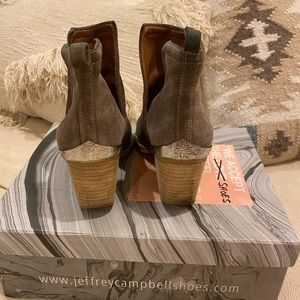 Jeffrey Campbell ankle suede boots